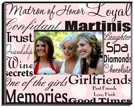 JDS Personalized Matron of Honor Frame