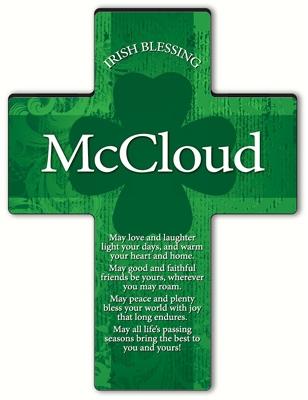 JDS Personalized Irish Blessing Shamrock Cross