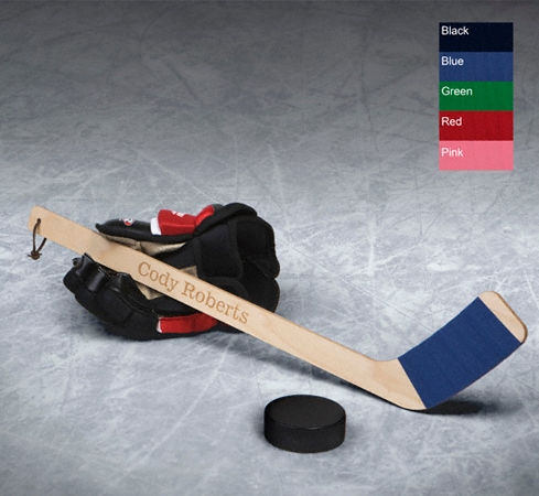 JDS Personalized Mini Hockey Stick: Hat Trick