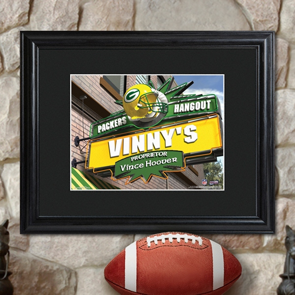 JDS Personalized NFL Pub Sign with Wood Frame