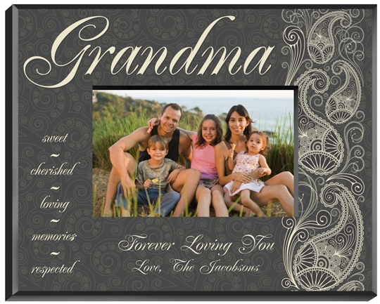 JDS Personalized Picture Frame: Pretty Paisley