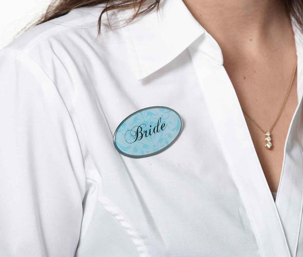 Lillian Rose Bride Pin - Oval Aqua