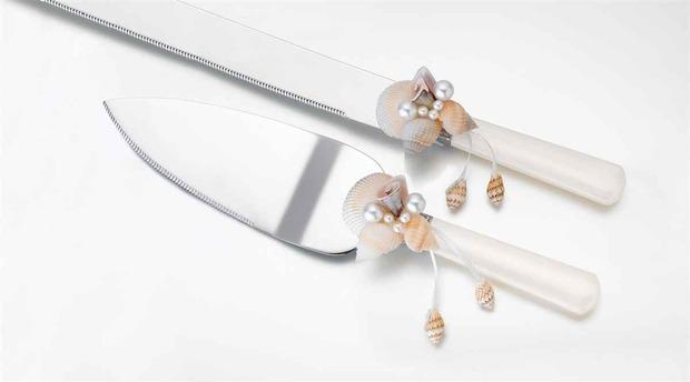 Lillian Rose Seashell Knife & Server Set