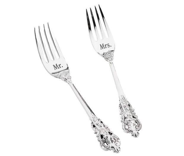 Lillian Rose Mr. and Mrs. Silver Forks Set