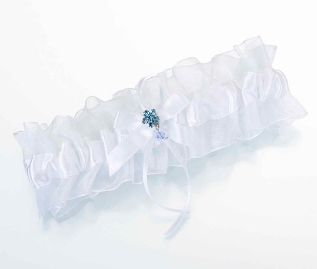 Lillian Rose Something Blue Garter-White