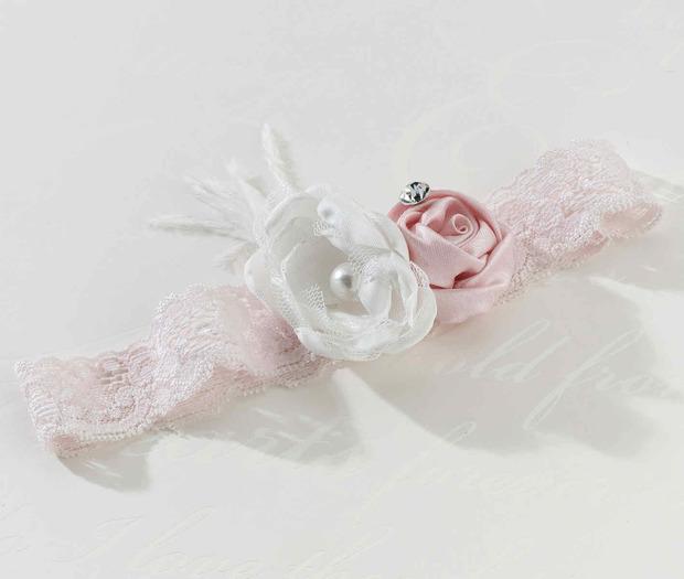 Lillian Rose Vintage Garter - Blush