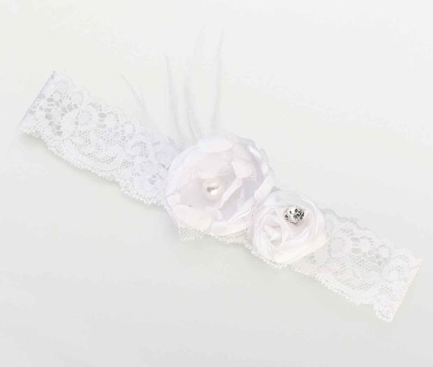 Lillian Rose Vintage Garter - White