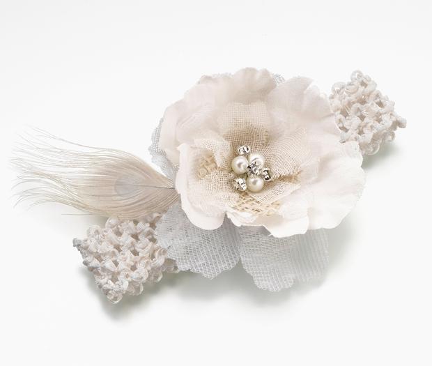 Lillian Rose Burlap & Lace Garter