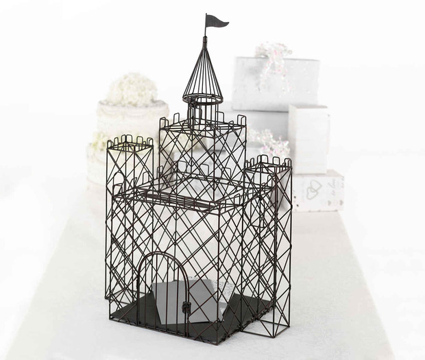 Lillian Rose Metal Castle Card Box