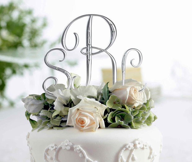 Lillian Rose Silver Rhinestone Monogram - Small D