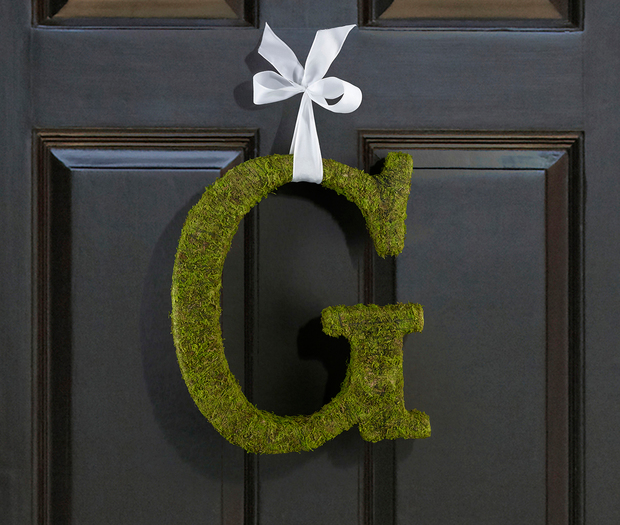Lillian Rose Large Moss Monogram Letter - 15 inch, A