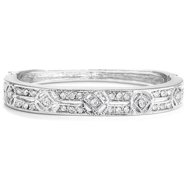 Mariell Cubic Zirconia Vintage Bridal Bangle Bracelet
