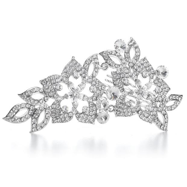 Mariell Vintage Crystal Bridal Comb