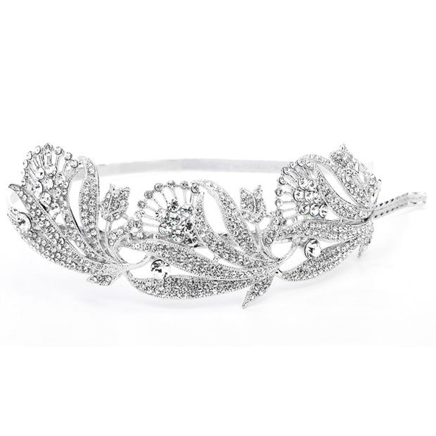Mariell Breathtaking Art Nouveau Bridal Headband