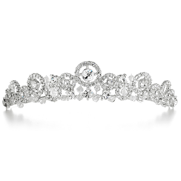 Mariell Delicate Wedding Tiara with Austrian Crystal Sprays