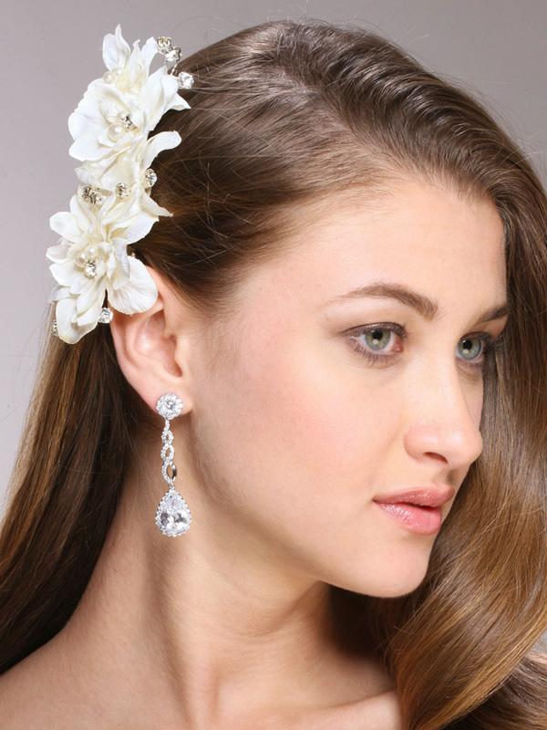 Mariell Opulent Cubic Zirconia Wedding Earrings