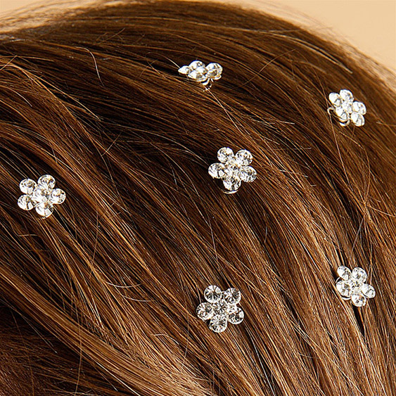 Mariell Prom Or Bridesmaid Crystal Flower Hair Spirals