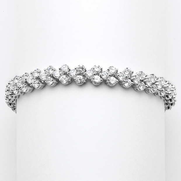 Mariell Petite Cubic Zirconia Wedding Or Prom Tennis Bracelet