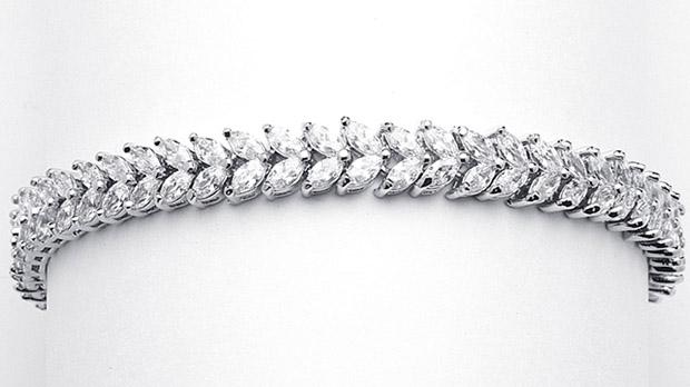 Mariell Red Carpet Double Marquis CZ Wedding Bracelet