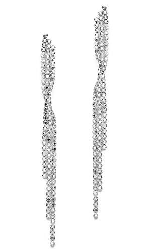 Mariell Popular Dangling Rhinestone Prom Earrings with Graceful Twist