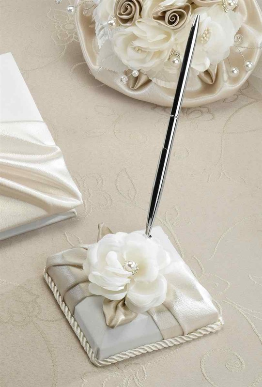 Lillian Rose Taupe Rose Pen Set