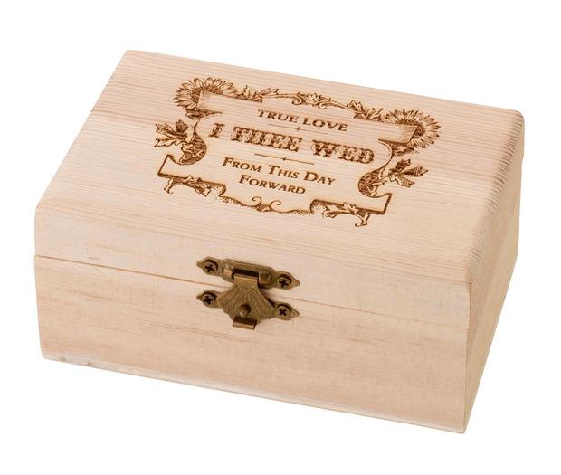 Lillian Rose Pine Ring Bearer Box - True Love