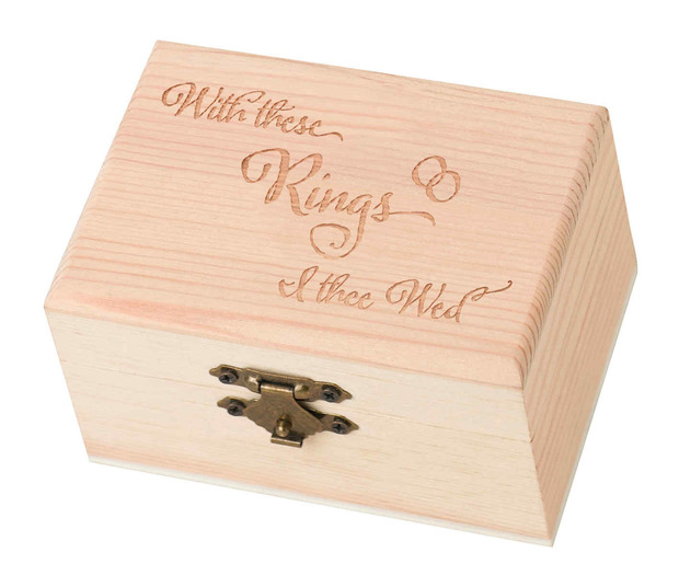 Lillian Rose Pine Ring Bearer Box - With This Ring