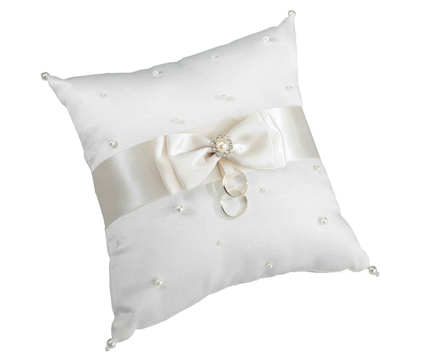 Lillian Rose Scattered Pearl Pillow - Ivory