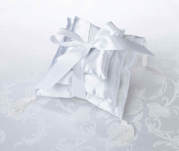 Lillian Rose Three Stacked Pillow - White