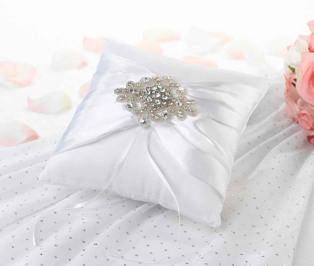Lillian Rose Jeweled Motif Ring Pillow