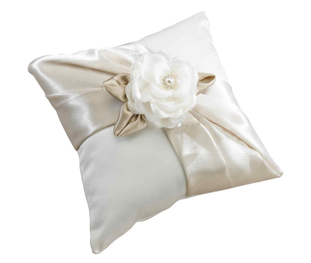 Lillian Rose Taupe Rose Ring Pillow