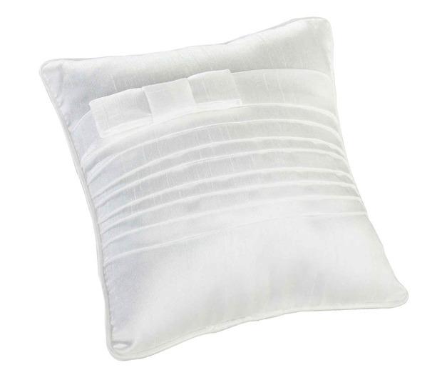 Lillian Rose White Pleated Silk Pillow