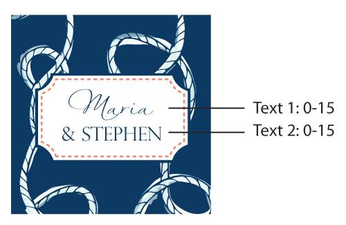Personalized Mason Jar, Kate's Nautical Wedding Collection: Set of 12