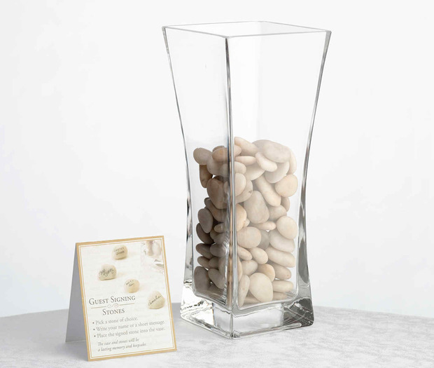 Lillian Rose Vase with Signing Stones
