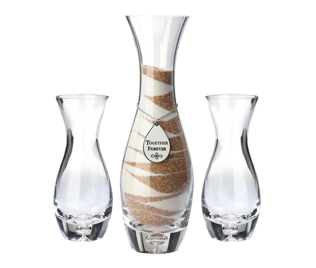Lillian Rose Set of 3 Unity Vases with Tag