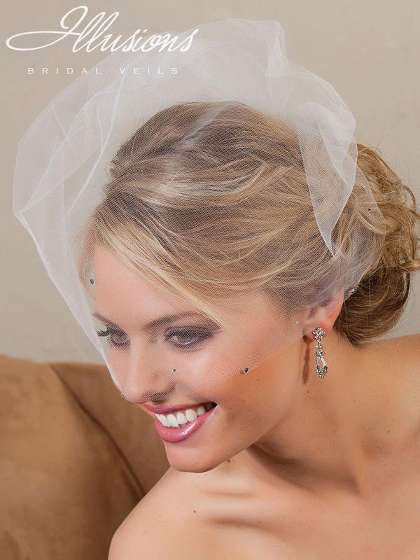 Illusions Bridal Visor Veils VS-789