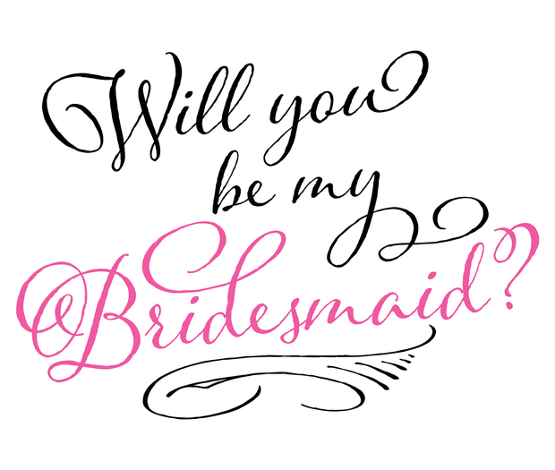 Lillian Rose Will You Be My Bridesmaid Wine Bag
