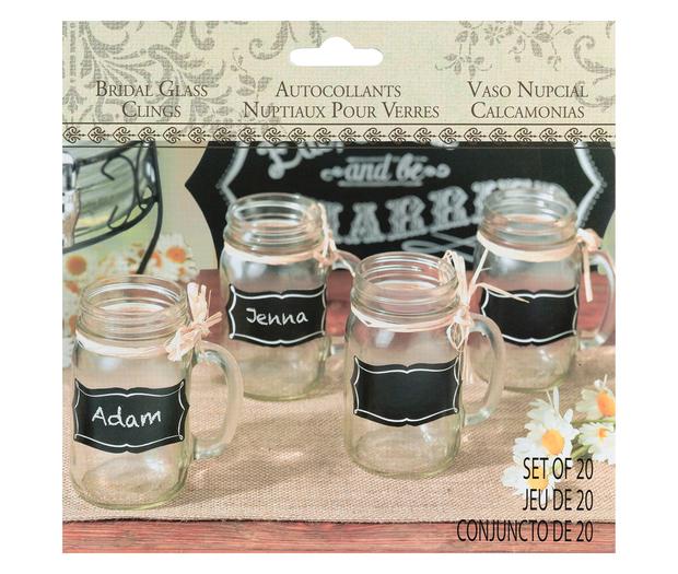 Lillian Rose St of 20 Chalkboard Glass Clings