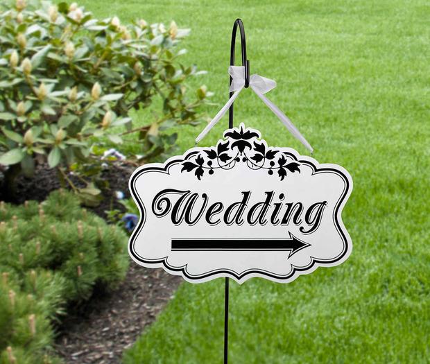 "Lillian Rose Wedding Sign - Large, 18"""
