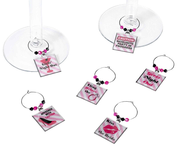 Lillian Rose Set of 6 Bachelorette Wine Charms