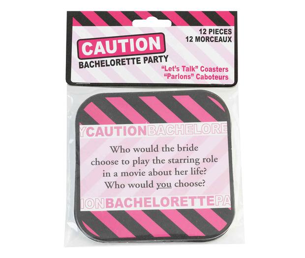 Lillian Rose Set of 12 Bachelorette Party Coaster