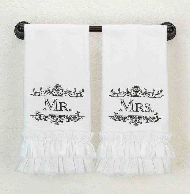 Lillian Rose Mr. Kitchen Towel - White