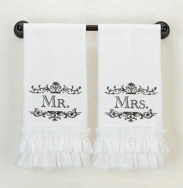 Lillian Rose Mrs. Kitchen Towel - White