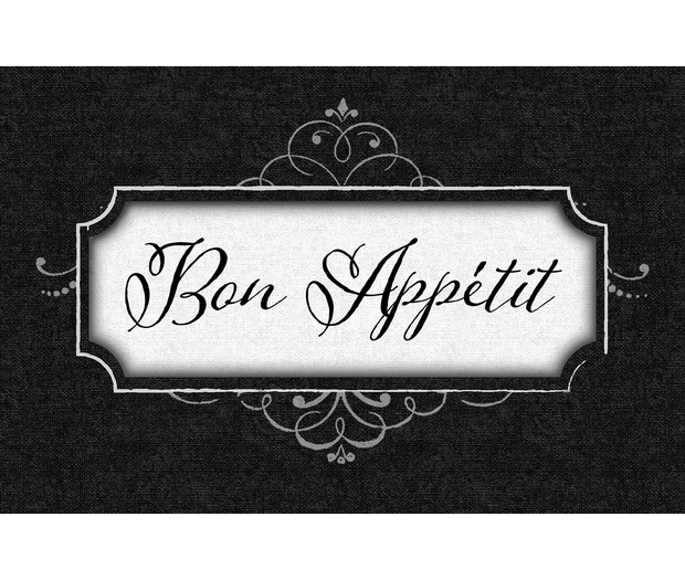 Lillian Rose Bon Appetit Recipe Card Box - Black