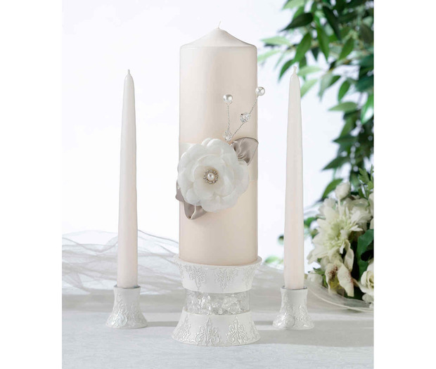 Lillian Rose Taupe Rose Candle Set)