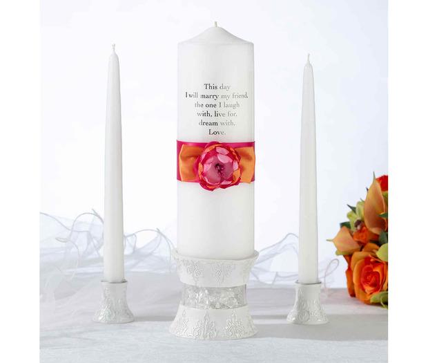 Lillian Rose Hot Pink & Orange Candle Set