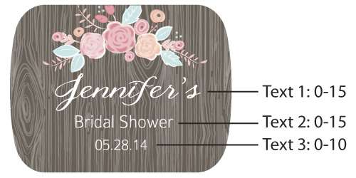 Personalized Bottle Opener with Epoxy Dome: Kate's Rustic Bridal Shower Collection