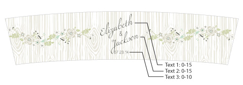 Personalized Frosted-Glass Votive, Kate's Rustic Wedding Collection