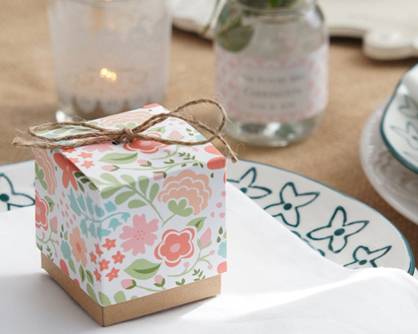 Vintage Floral, Favor Box: Set of 24, Available Personalized