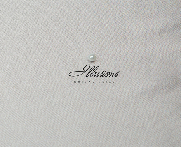 Illusions Bridal Cut Edge Veil S1-302-CT: Pearl Accent
